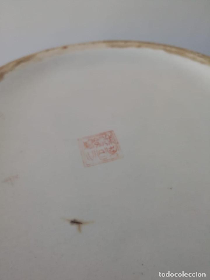 Antigüedades: GRAN JARRÓN CHINO CON RELIEVES - SELLADO - Foto 14 - 134220110