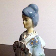 Antigüedades: FIGURA PORCELANA MUJER ORIENTAL ART DECÓ AÑO1930. Lote 134229198