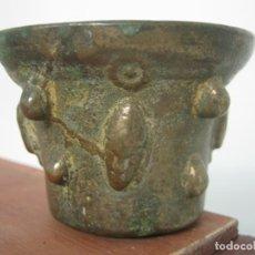Antigüedades: PEQUEÑO MORTERO DE BRONCE . ANTIGUO ALMIREZ. Lote 134229634