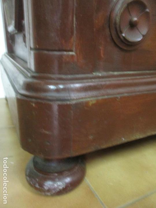 Antigüedades: Bonito Aparador Alfonsino - Madera de Pino -Sobre de Mármol, con Estante -Ideal Comedor, Restaurante - Foto 3 - 134268258