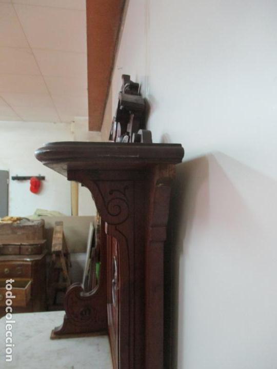 Antigüedades: Bonito Aparador Alfonsino - Madera de Pino -Sobre de Mármol, con Estante -Ideal Comedor, Restaurante - Foto 43 - 134268258