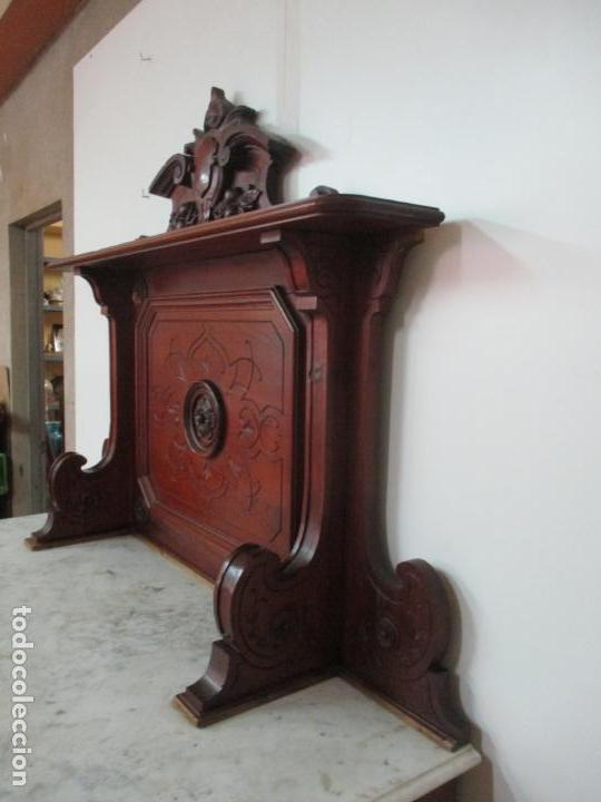 Antigüedades: Bonito Aparador Alfonsino - Madera de Pino -Sobre de Mármol, con Estante -Ideal Comedor, Restaurante - Foto 50 - 134268258