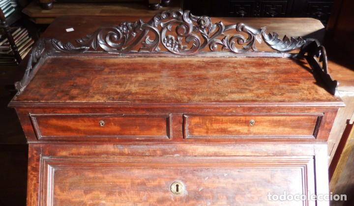 Antigüedades: SECRETER CHAPA DE CAOBA. P. S. XX. - Foto 8 - 134282602