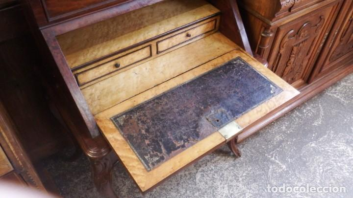 Antigüedades: SECRETER CHAPA DE CAOBA. P. S. XX. - Foto 17 - 134282602