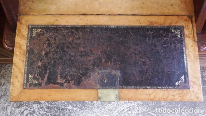 Antigüedades: SECRETER CHAPA DE CAOBA. P. S. XX. - Foto 19 - 134282602