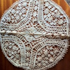 Antigüedades: TAPETE GANCHILLO 40 CM DIAMETRO. Lote 134285614