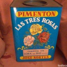 Antigüedades: LATA DE PIMENTÓN.. Lote 134285719