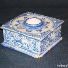 Antigüedades: TINTERO DE CERÁMICA ESMALTADO. Lote 134297586