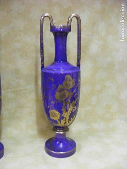 Antigüedades: PAREJA DE JARRONES EUROPEOS - Foto 3 - 130186203