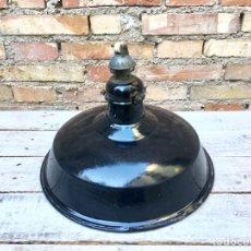 Antigüedades: LAMPARA DE TALLER INDUSTRIAL FABRICA ESMALTADA VINTAGE LOFT ATELIER Ø31CM DESEMBALAJE DE LAMPARAS. Lote 134339386