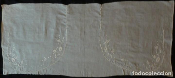 Antigüedades: PIEZA DE MUSELINA BORDADA PARA CONFECCIÓN S.XIX - Foto 4 - 134339758
