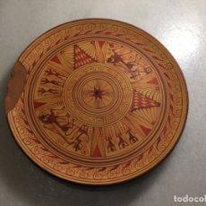 Antiquités: ANTIGUO PLATO DE CERAMICA REPRODUCCIÓN DE LA CERAMICA GRIEGA AÑOS 80-90 . Lote 134347186