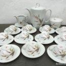 Antigüedades: JUEGO ANTIGUO DE CAFE EN PORCELANA FRANCESA SELLADO. Lote 134357922