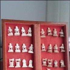 Antigüedades - JUEGO AJEDREZ, con tablero plegable - 134358142