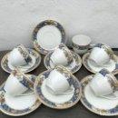 Antigüedades: JUEGO ANTIGUO DE 7 TAZAS CAFE EN PORCELANA DE LIMOGES SELLADOS. Lote 134359106