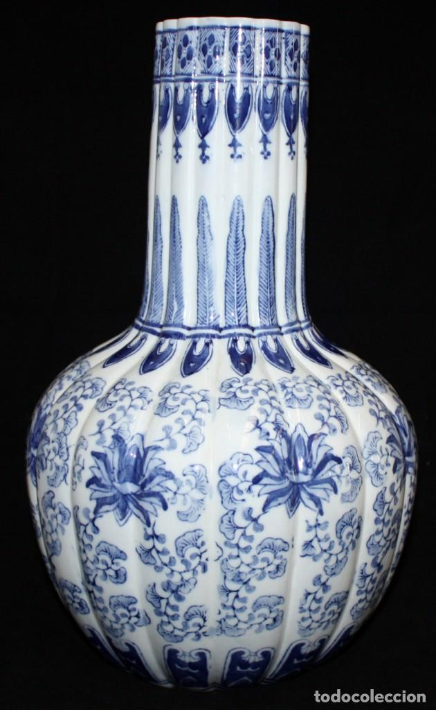Antigüedades: JARRÓN DE PORCELANA ESTILO (DELT). 40 CM. - Foto 3 - 134366270