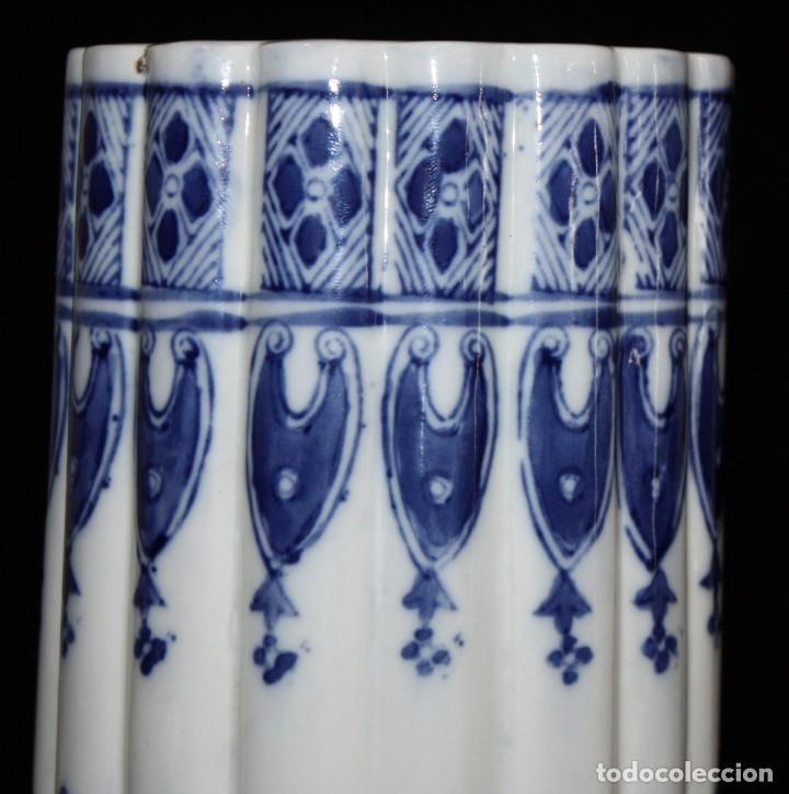 Antigüedades: JARRÓN DE PORCELANA ESTILO (DELT). 40 CM. - Foto 5 - 134366270