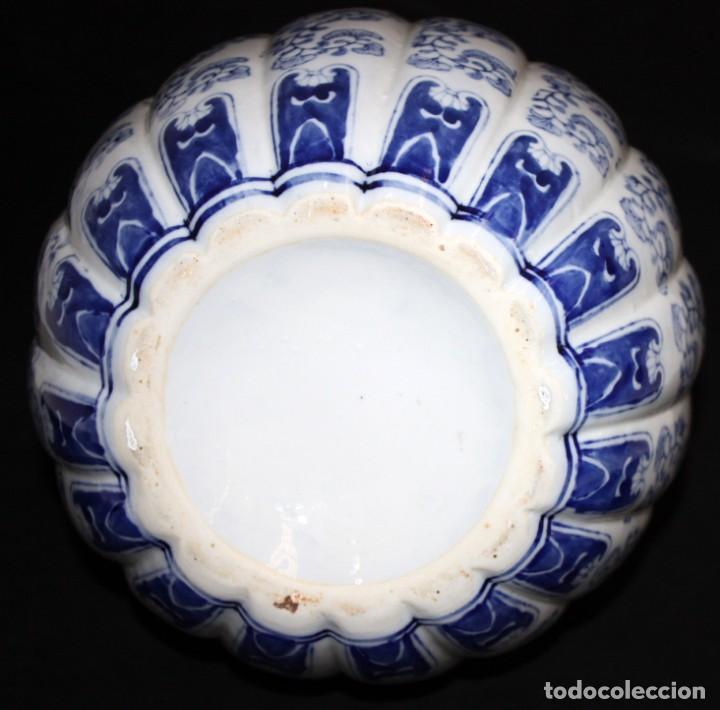 Antigüedades: JARRÓN DE PORCELANA ESTILO (DELT). 40 CM. - Foto 6 - 134366270