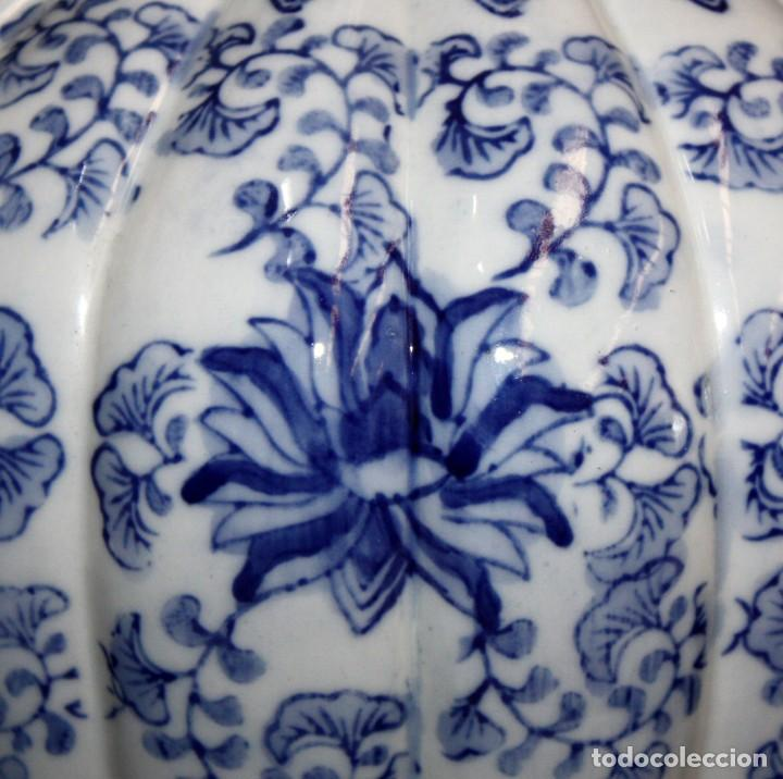 Antigüedades: JARRÓN DE PORCELANA ESTILO (DELT). 40 CM. - Foto 7 - 134366270