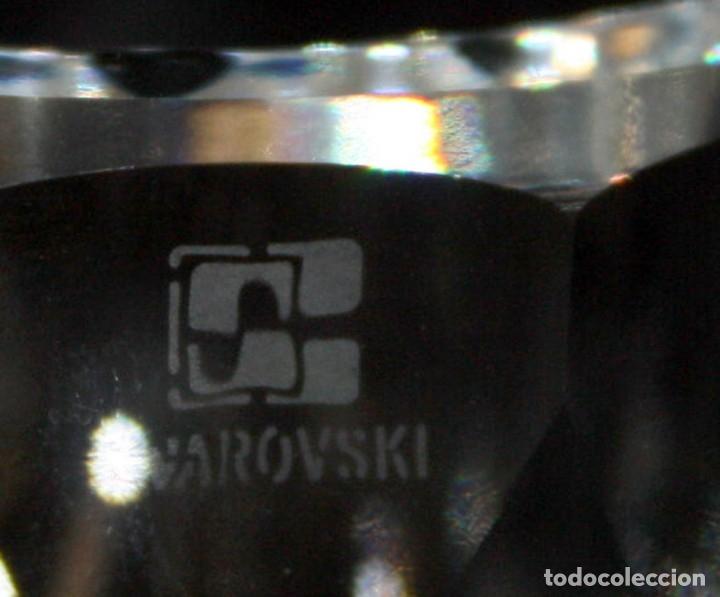 Antigüedades: VASO DE CRISTAL TALLADO SWAROVSKI - Foto 3 - 134366810
