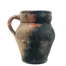 Antigüedades: JARRA DE ALFARERÍA. TERRISSA COCIDA. CATALUÑA. SIGLO XIX.. Lote 134387910