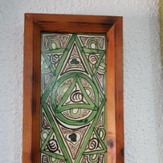 Antigüedades: CERÁMICA ENMARCADA FIRMADA POR DOMINGO PUNTER (TERUEL). Lote 134390218