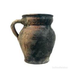 Antigüedades: JARRA DE ALFARERÍA. TERRISSA COCIDA. CATALUÑA. SIGLO XIX.. Lote 134395118