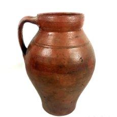 Antigüedades: JARRA DE ALFARERÍA. TERRISSA COCIDA. CATALUÑA. SIGLO XIX.. Lote 134401418