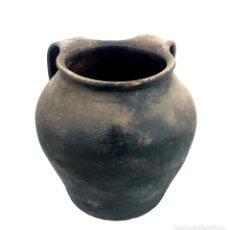 Antigüedades: JARRÓN DE ALFARERÍA. TERRISSA COCIDA. CATALUÑA. SIGLO XIX.. Lote 134403982