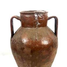 Antigüedades: JARRÓN DE ALFARERÍA. TERRISSA COCIDA. CATALUÑA. SIGLO XIX.. Lote 134407982