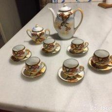 Antigüedades: ANTIGUO JUEGO DE CAFÉ / VAJILLA DE PORCELANA FINA JAPONESA DE LOS AÑOS 20-30. Lote 134410862