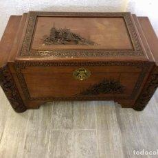Antigüedades: ANTIGUO BAUL CHINO DE DOTE. Lote 134413078