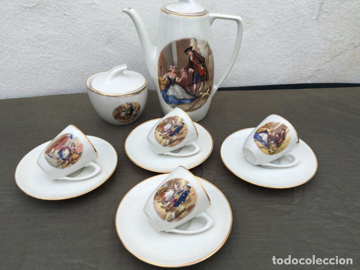 JUEGO ANTIGUO DE CAFE PORCELANA (Antigüedades - Porcelana y Cerámica - Alemana - Meissen)