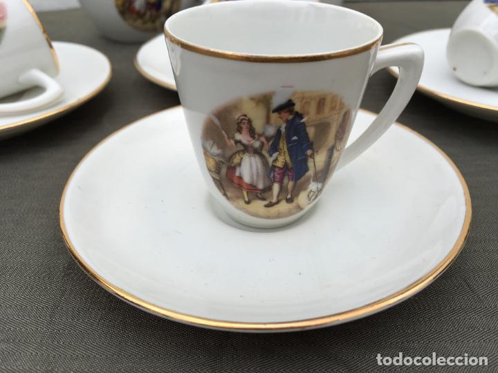 Antigüedades: JUEGO ANTIGUO DE CAFE PORCELANA - Foto 2 - 134429750