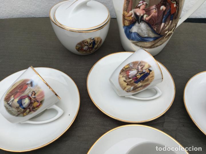 Antigüedades: JUEGO ANTIGUO DE CAFE PORCELANA - Foto 3 - 134429750