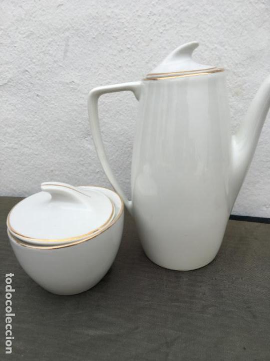 Antigüedades: JUEGO ANTIGUO DE CAFE PORCELANA - Foto 6 - 134429750