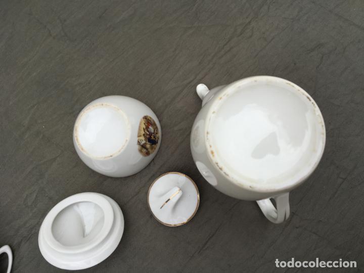 Antigüedades: JUEGO ANTIGUO DE CAFE PORCELANA - Foto 8 - 134429750