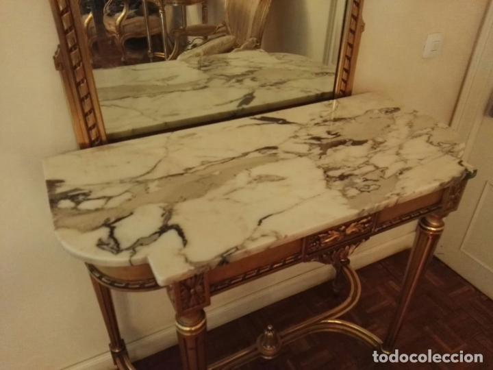 Antigüedades: Consola + Espejo, estilo Luis XVI - Foto 2 - 134433378