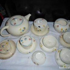 Antigüedades: ANTIGUO JUEGO DE CAFE SAN CLAUDIO LO QUE SE VE EN LAS FOTOS. Lote 134436206