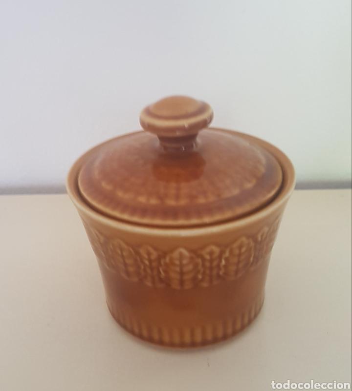 LA PONTESA AZUCARERO VINTAGE COLOR MIEL (Antigüedades - Porcelanas y Cerámicas - Otras)