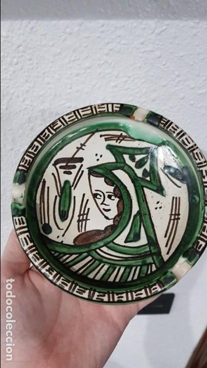 CENICERO DE CERÁMICA DOMINGO PUNTER (TERUEL) (Antigüedades - Porcelanas y Cerámicas - Teruel)