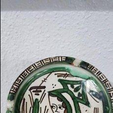 Antigüedades: CENICERO DE CERÁMICA DOMINGO PUNTER (TERUEL). Lote 134477482