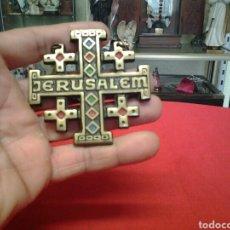 Antigüedades: CRUZ DE LA ORDEN DEL SANTO SEPULCRO DE JERUSALEN EN METAL BRONCE. Lote 134504410