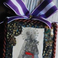 Antigüedades: PRECIOSO ESCAPULARIO RELICARIO VIRGEN DE LOS DESAMPARADOS. Lote 134511866