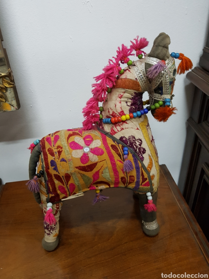 Caballo rabe artesanal con telas y bordados ma comprar - Telas marroquies ...