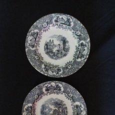 Antigüedades: PLATOS DECORATIVOS DE PORCELA - LA CARTUJA DE SEVILLA PICKMAN. Lote 134527586