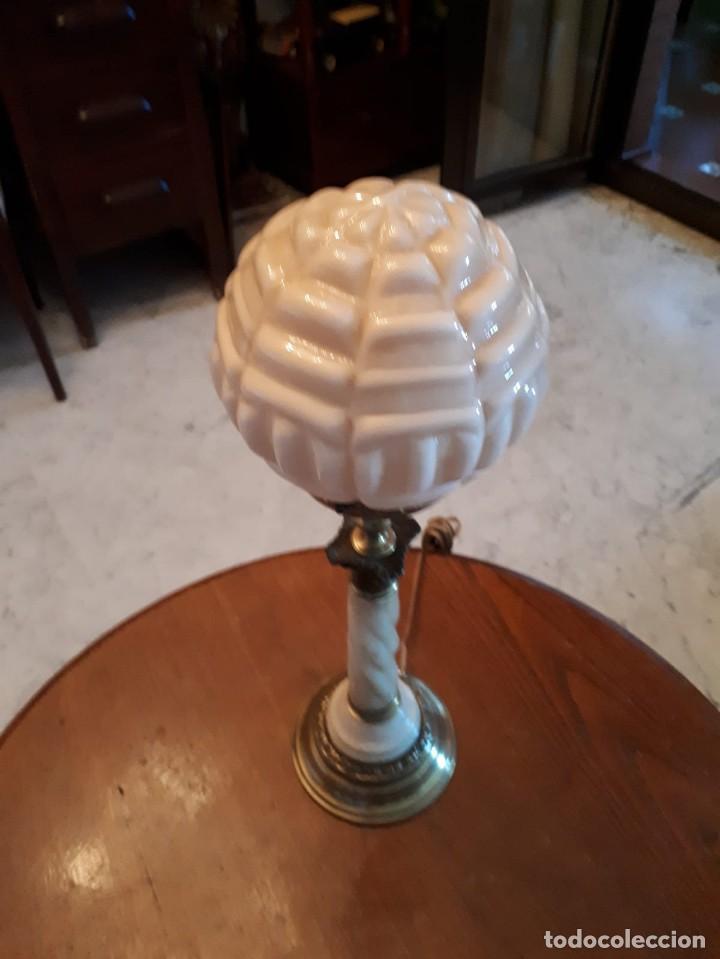 Antigüedades: Lámpara antigua mesa escritorio despacho - Foto 8 - 134535902