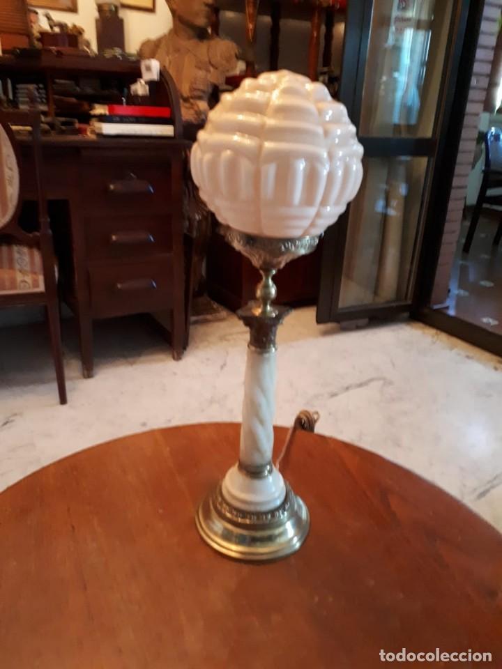 Antigüedades: Lámpara antigua mesa escritorio despacho - Foto 9 - 134535902