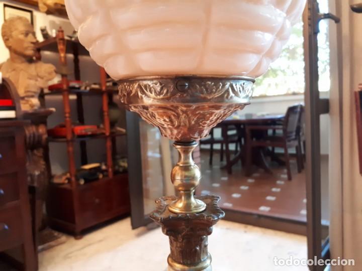 Antigüedades: Lámpara antigua mesa escritorio despacho - Foto 10 - 134535902