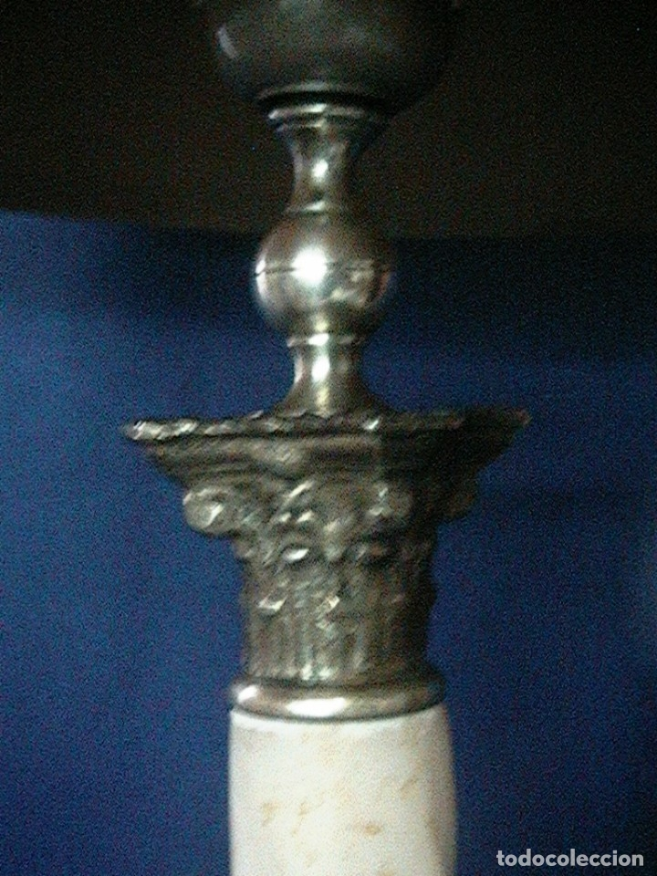 Antigüedades: Lámpara antigua mesa escritorio despacho - Foto 13 - 134535902